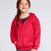 Heavy Blend Children's Full Zip Hooded Sweatshirt