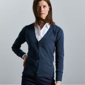 Ladies' V-neck Knitted Cardigan Thumbnail