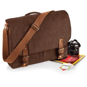 Quadra Vintage Canvas Satchel Messenger Thumbnail