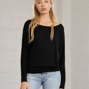 Flowy Off Shoulder Long Sleeve T-Shirt Thumbnail