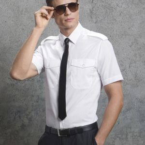Kustom Kit Mens S/S Pilot Shirt Thumbnail