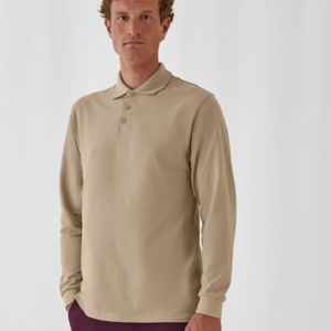 B&C Heavymill L/Sleeve Polo Shirt Thumbnail